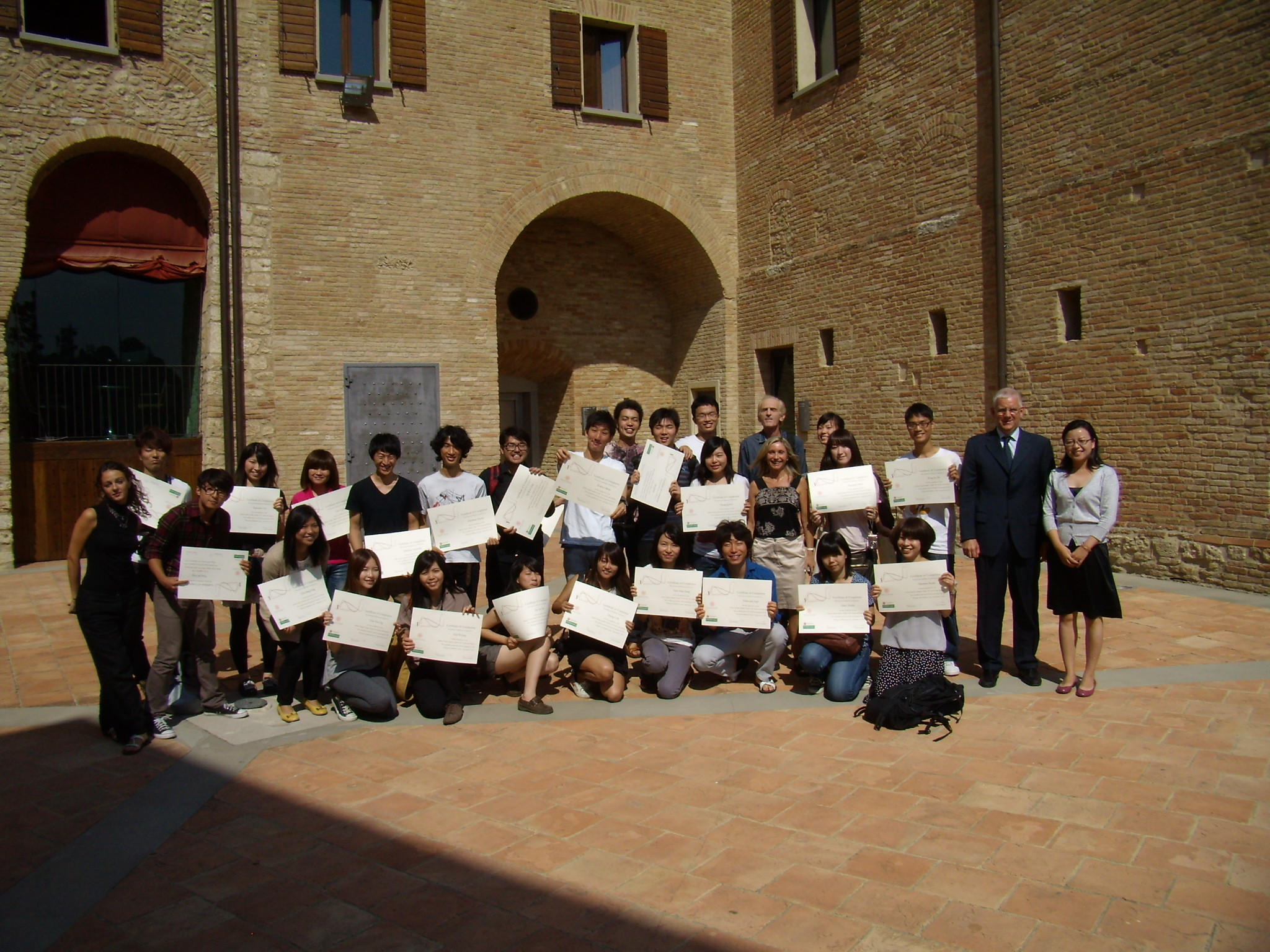 Final certifications delivery in Bertinoro 2011