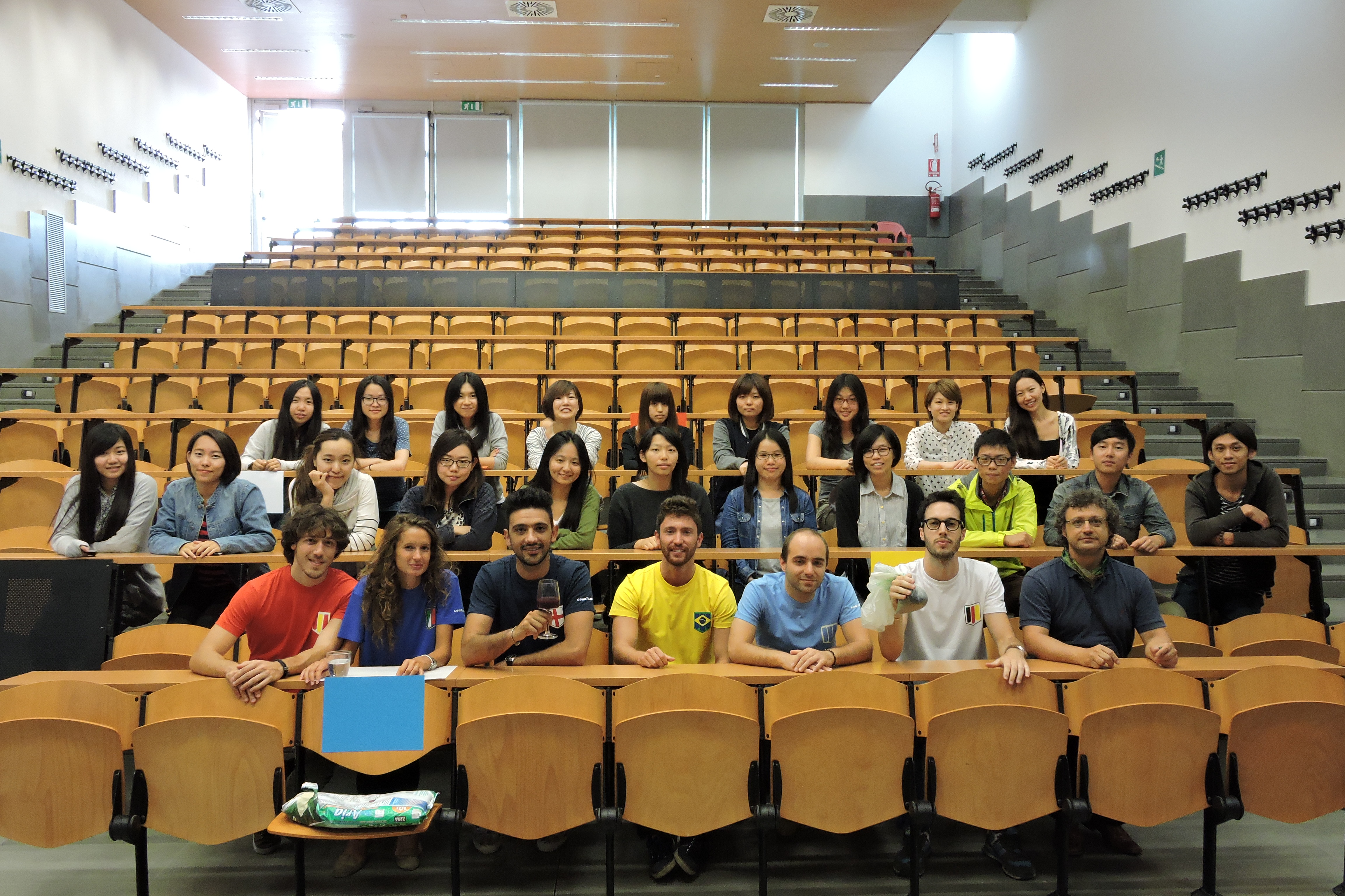 The IDDS students with the UBTeam of the University of Bologna, Edition 2014